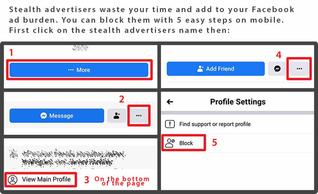 How to block stealth advertisers on Facebook mobile