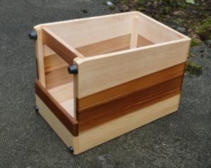 Vista del orificio de sonido orientado hacia abajo en un cajón del fogón