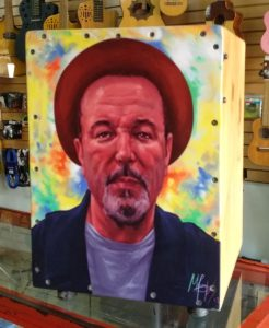 Cajon with Ruben Blades artwork